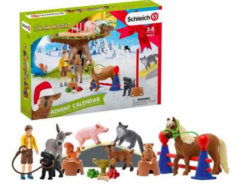 Schleich bondegård julekalender, julekalender med bondgårds dyr, legetøj bondegård, julekalender med legetøj, julekalender til små børn, Legetøjsjulekalender med dyr
