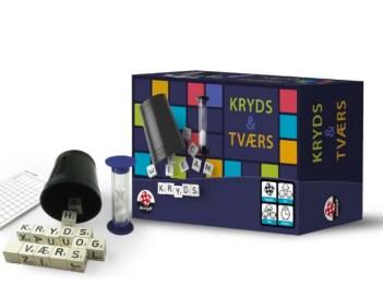 Kryds og tværs, brætspil, Kryds og Tværs bratspil, brætspil til voksne, voksen brætspil, Brætspil til familier, Gaver til studerende