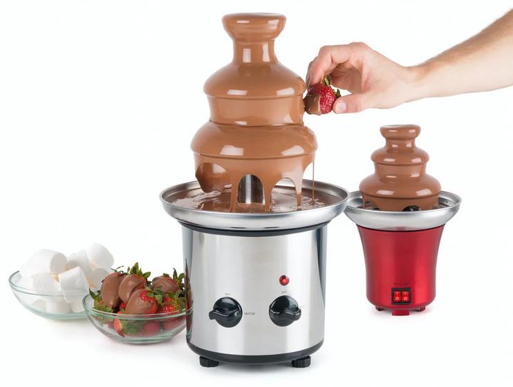 chokolade fondu, fondu med chokolade, køkkenmaskiner til hjemmet, chokolade springvand