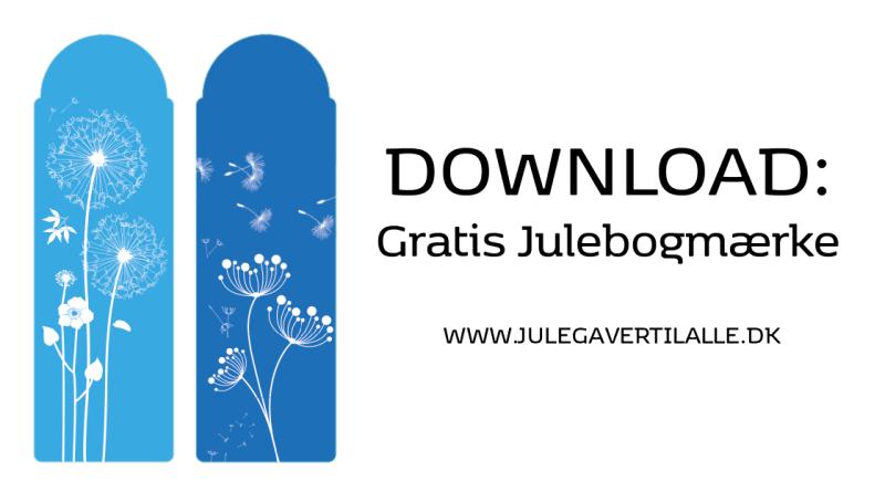 gratis bogmærker, download bogmærke, print selv bogmærke, gratis design, gratis juledesign,