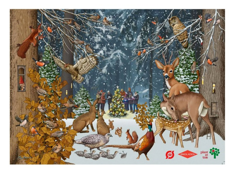 chokolade julekalender økologisk, økologisk chokolade julekalender, økologisk julekalender, økologisk chokolade