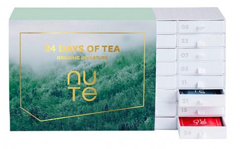 NUTE Julekalender 2021, Økologiske julekalendere, NUTE Julekalender, økologisk te julekalender, julekalender med te, julekalender med tea 2021