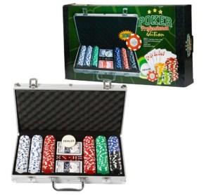 Poker spil, kuffert med poker spil, gaver til drenge, gaver til teenage drenge,