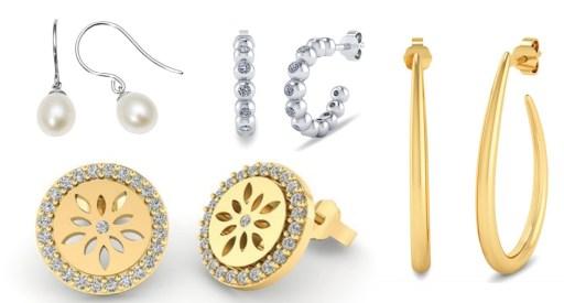 Øreringe, guld øreringe, øreringe til mor, flotte øreringe til mødre, mor dags gave, gaver til mors dag, sølv øreringe