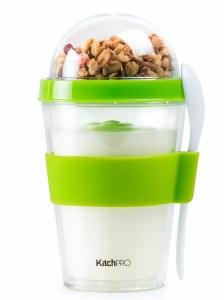 yogurt kop, genanvendelig morgenmads kop, kop til yoghurt