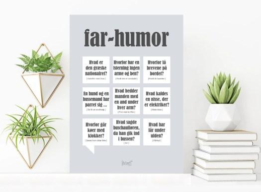 Plakat med Far humor, far humor plakat, far plakat, Plakat med Far defination, gaver til far, Faren plakat