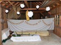 Spitzen-Vintage-Look, Vintage Wedding, Scheunenhochzeit, Wimpelketten selber machen, DIY Wimpelketten, Wimpelketten aus Spitze, Wimpelketten aus Jute