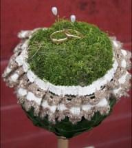 Vintage Wedding, Scheunenhochzeit, Ringkissen selber machen, DIY Ringkissen, Ringkissen aus Efeu, Ringkissen im Vintage-Natur-Style