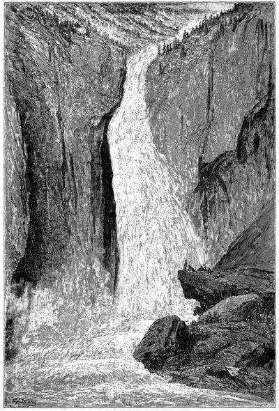 """Gustave Doré: Rjukanfossen, fra """"Le tour du monde"""""""