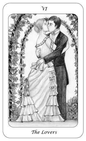 Tarot Card 6 - The Lovers - Boswell - julesknowlton