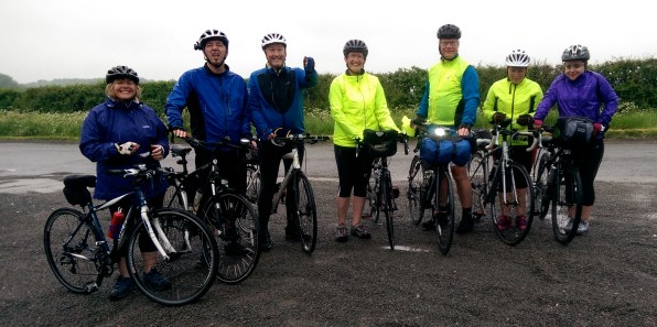 The cycle pilgrims - off to Epworth