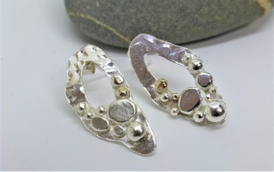 EcoSilver and EcoGold Bubbles Studs