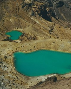 Overlooking the Emerald Lakes