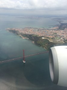 The Lisbon airport has a few different approach routes, this one is the most spectacular