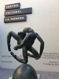 The 'Centro Cultural de la Moneda' was built below the presidential palace