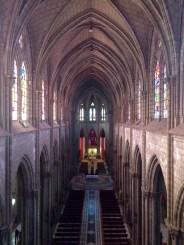 The inside of 'Basilica del Voto Nacional'