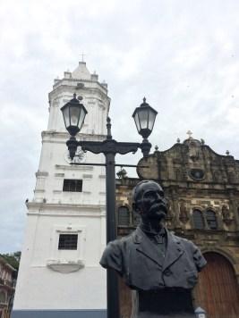 A statue of Manuel Amador Guerrero, Republic of Panama's first president