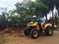 Jules trying to fly with the ATV!