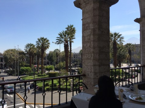 Enjoying the view after a Peruvian style brunch
