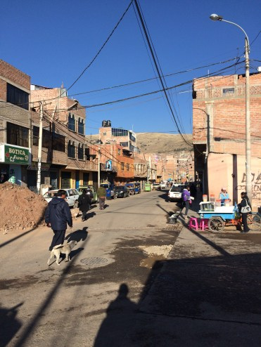 "Like in the majority of the cities we visited in Peru, the houses here are an ""ongoing project"", and you add floors and finish the facade along the years, giving the city an impression of a continuous construction site"