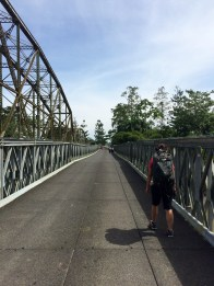 Crossing the bridge from Panama to Costa Rica