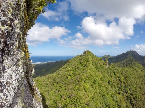View from The Needle, the highest point on the cross-island trek