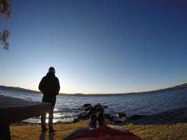 Enjoying a late afternoon at Lake Taupo
