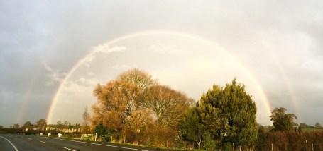 A rare double rainbow