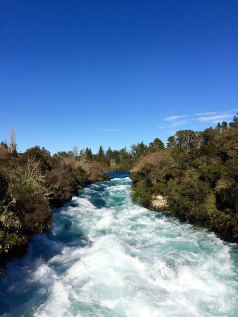 Our Taupo hike started at Huka Falls...