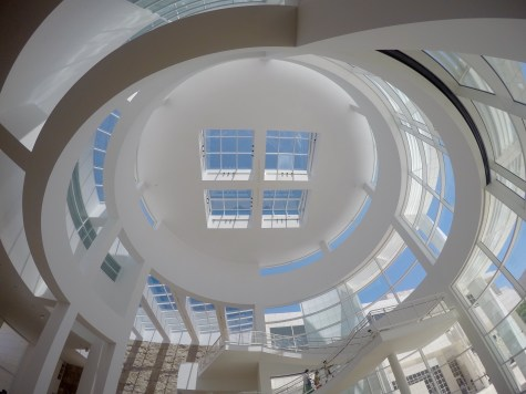 The stunning reception building