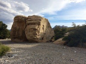 The two faces (or at least this is what we called them!) in the Red Rock desert