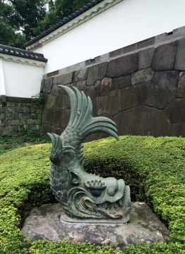 Fish meets dragon, near one of the Imperial Palace's gates