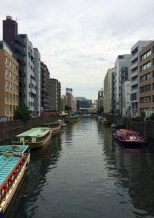 It's definately not Venice, but there are some canals in Tokyo!