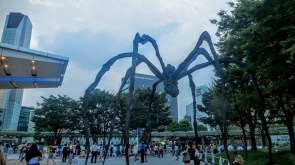 The Maman (meaning 'Mother' in French) sculpture in Roppongi Hills, one of the swankiest neighborhoods of Tokyo