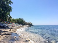 Most of the beaches we visited in Amed were deserted