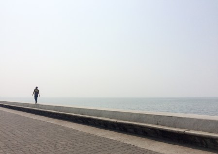 The Marine Drive is a 4 kilometre long promenade that sits on reclaimed land