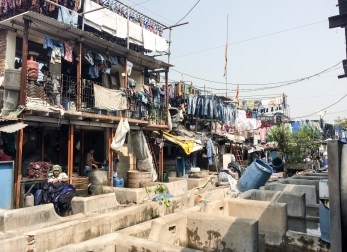 Most clothing is hand washed by men, as the work is demanding and dangerous