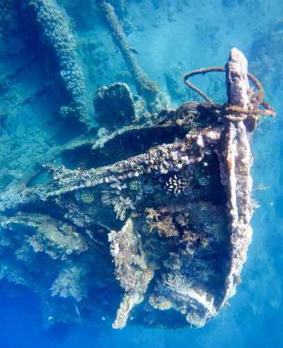 The Japanese wreck is though to have been a small patrol ship sunk during World War II