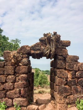 Entry to the Chapora Fort, in Goa