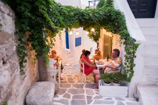 Having dinner in Chora, Naxos (16 mm, 1/60s, f1.4, ISO 1250)