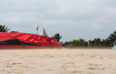 A good windy day for kitesurfing (Sal, Cape Verde)