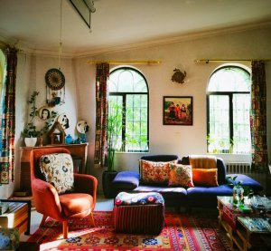 Bohemian decorated room