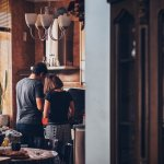 Couple in small apartment