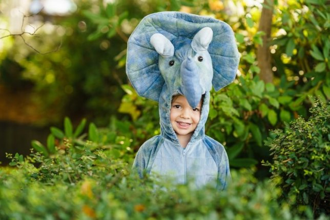 Child as dinosaur