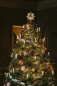 Christmas tree in a Victorian House