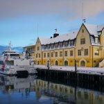 Norwegian town in winter