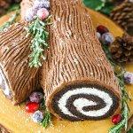 Yule-Log Cake