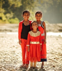 Three Nepalese sisters