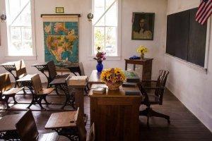 Vintage classroom scene