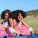 Twins in a field